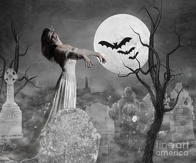 Zombie Bride Poster by Juli Scalzi
