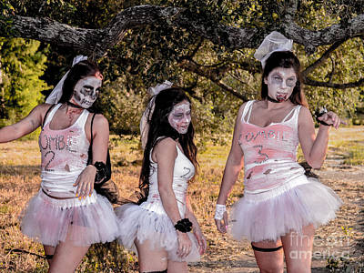 Zombie Brides Poster by Renee Barnes