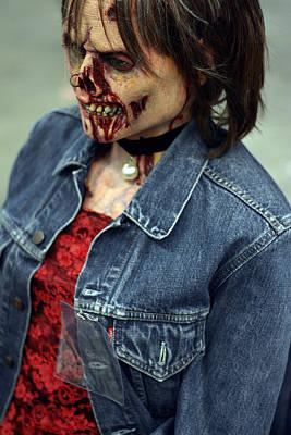 Carmen Zombie Face Poster