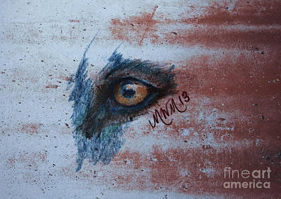 Zombie Wolf Eye Poster