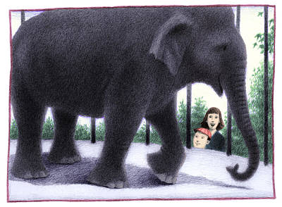 Zoo Elephant Poster by Steve Dininno