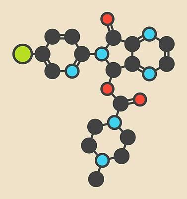 Zopiclone Insomnia Drug Molecule Poster