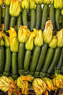 Zucchini Flowers Closeup Poster