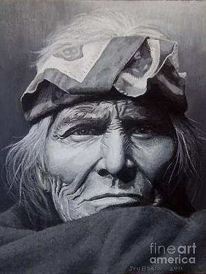 Zuni Elder - Painting Poster by Stu Braks