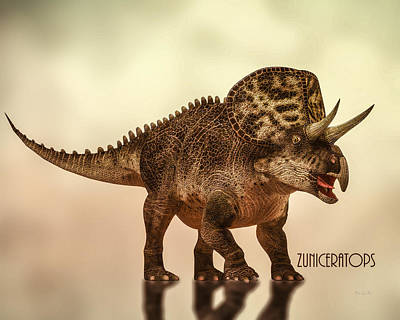 Zuniceratops Dinosaur Poster by Bob Orsillo