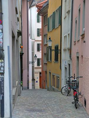 Zurich Old Town Street Poster by Steven Richman