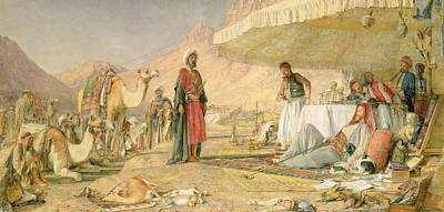 A Frank Encampment In The Desert Of Mount Sinai Poster by John Frederick Lewis