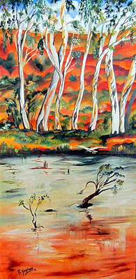 Poster featuring the painting  Aussiebillabong by Roberto Gagliardi