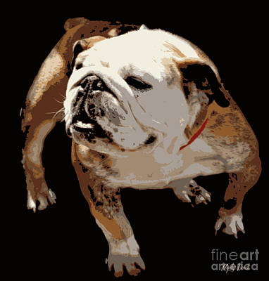 Poster featuring the photograph  Bulldog  by Mindy Bench