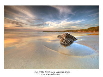 Dusk On The Beach Poster by Beverly Cash