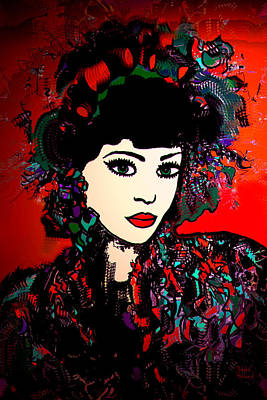Geisha Girl Poster by Natalie Holland
