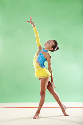 Gymnast, Smiling, Pose, Arm Up Poster by Emma Innocenti
