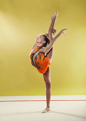 Gymnast, Standing, Holding Back Leg Up Poster by Emma Innocenti