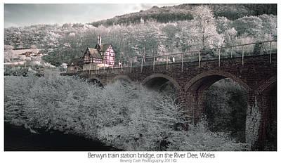 Infrared Train Station Bridge Poster