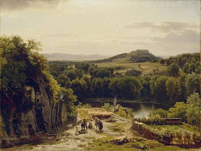 Landscape In The Harz Mountains Poster by Thomas Worthington Whittredge