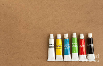 Oil Paint Tubes Poster