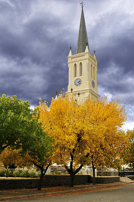 Richmond Church Tree Autumn Poster by Joe Lategan