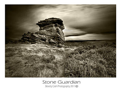 Poster featuring the photograph  Stone Guardian by Beverly Cash