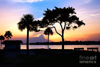 Sunrise At The Old Fort Poster by Richard Burr