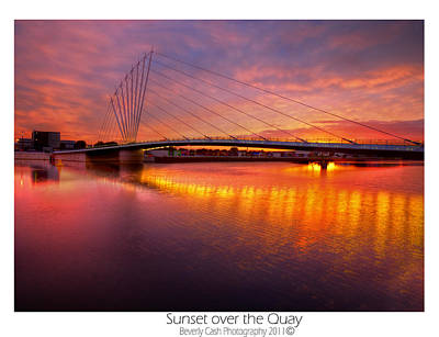 Sunset Over The Quay Poster