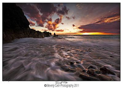 Sunset Tides - Porth Swtan Poster