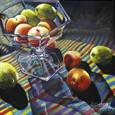 01083 Limes And Apricots Poster by AnneKarin Glass