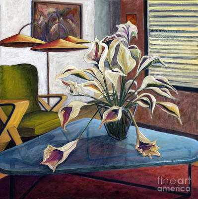Poster featuring the painting 01254 Mid-century Modern by AnneKarin Glass