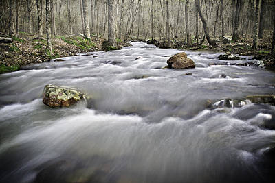 0804-0122 Rolling Creek Of The Ozark Mountains Poster by Randy Forrester