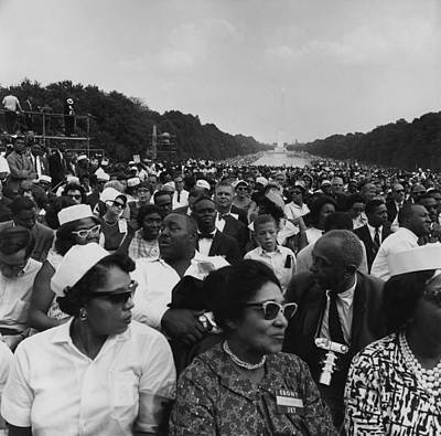 1963 March On Washington. Crowd Poster by Everett