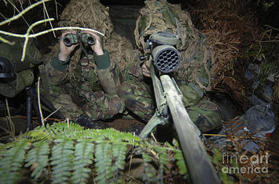A British Army Sniper Team Dressed Poster