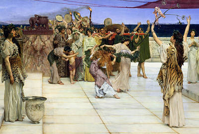 A Dedication To Bacchus Poster by Sir Lawrence Alma-Tadema