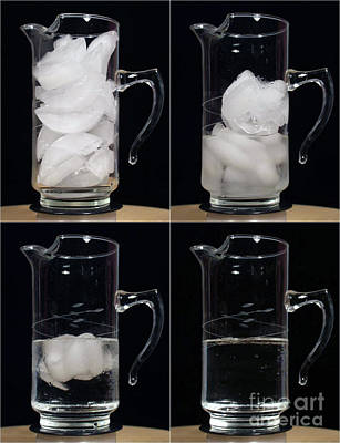 A Pitcher Of Ice Melts Over 4 Hours Poster by Ted Kinsman