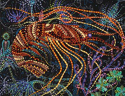 A Shrimp Poster by Erika Pochybova
