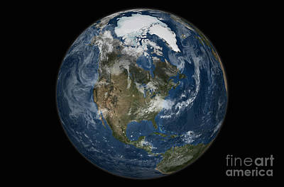 A View Of The Earth With The Full Poster by Stocktrek Images