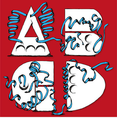 Abstract Abcd Poster by Michaela Mitchell