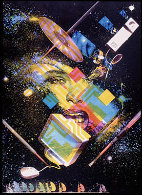 Abstract Artwork Of The Information Superhighway Poster