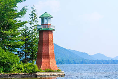Adirondack Lighthouse Poster by Ann Murphy