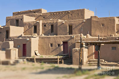 Adobe Buildings Of Taos Poster