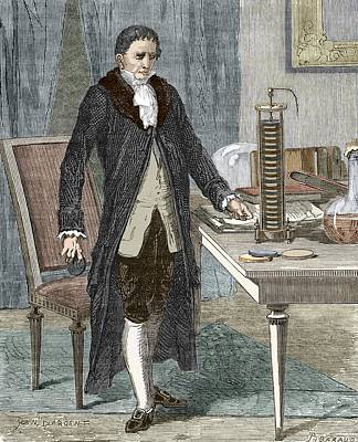 Alessandro Volta, Italian Physicist Poster by Sheila Terry