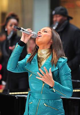 Alicia Keys On Stage For Nbc Today Show Poster