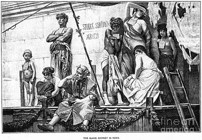 Ancient Rome: Slave Market Poster by Granger