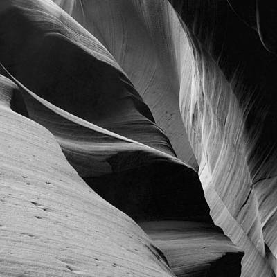 Poster featuring the photograph Antelope Canyon Sandstone Abstract by Mike Irwin