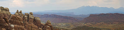 Poster featuring the photograph Arches National Park Large Panorama by Mike Irwin