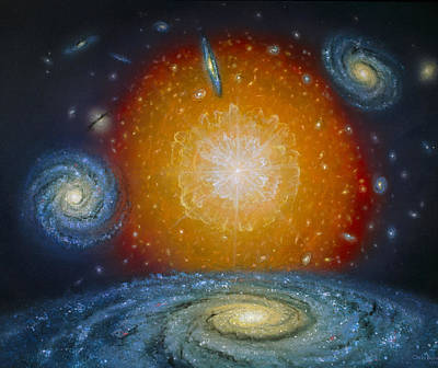 Artist's Impression Of The Big Bang Poster by Chris Butler