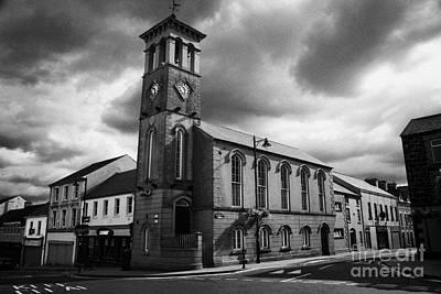 Ballymoney Town Clock Tower And Masonic Hall County Antrim Northern Ireland  Poster