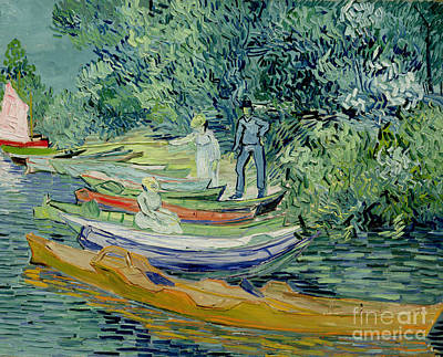 Bank Of The Oise At Auvers Poster by Vincent Van Gogh