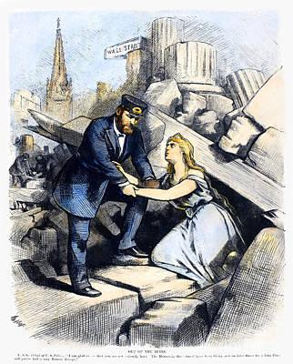 Bank Panic Cartoon, 1873 Poster by Granger