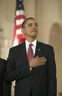 Barack Obama At A Public Appearance Poster