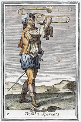 Bass Trombone, 1723 Poster by Granger
