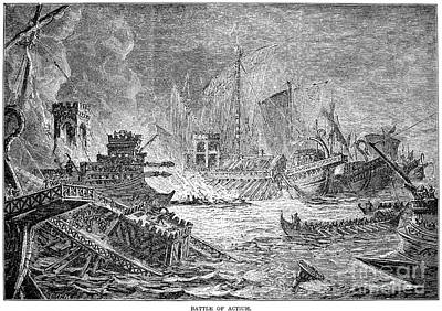 Battle Of Actium, 31 B.c Poster by Granger